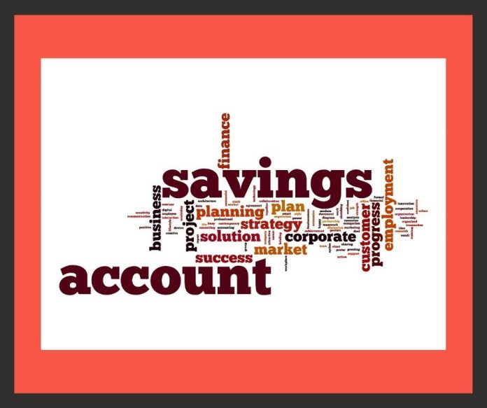 photo of savings account words