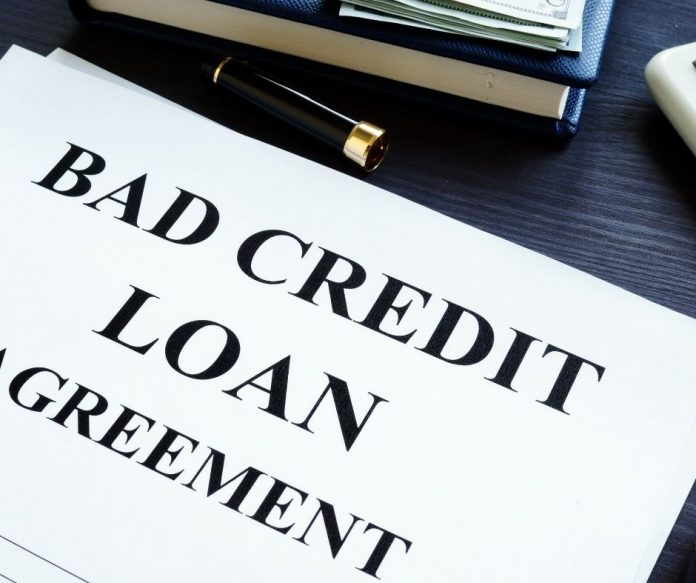 bad credit loan papers